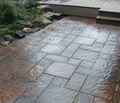 Kalamazoo stamped patio.