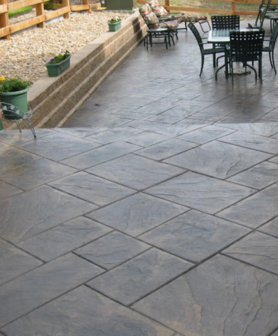 Kalamazoo stamped concrete patio.